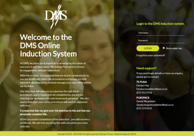 DMS Online Induction System