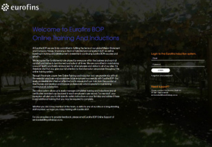 Eurofins Online Induction System